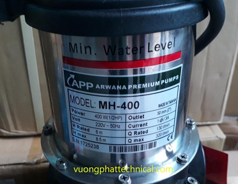 Bơm chìm nước thải APP MH-400