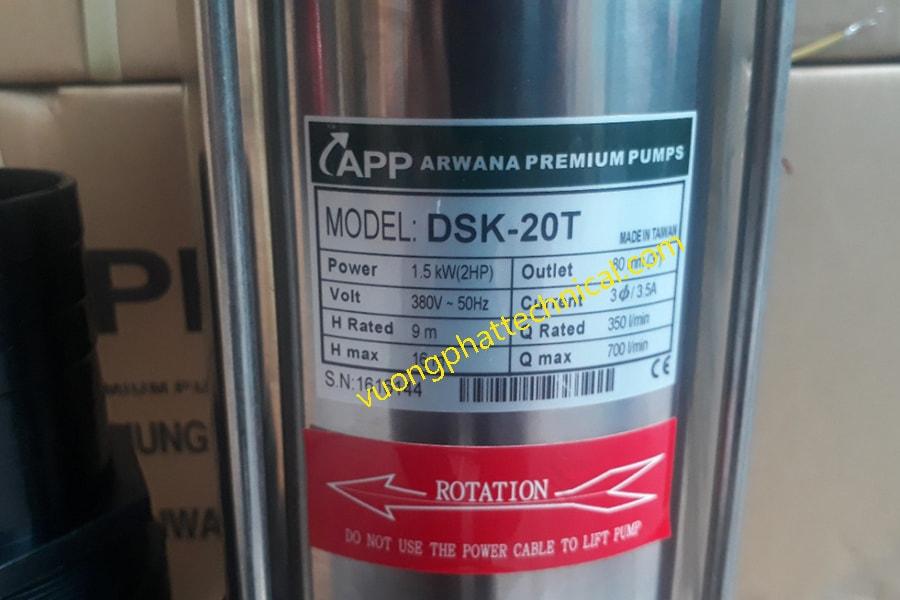 Bơm chìm nước thải DSK-20T