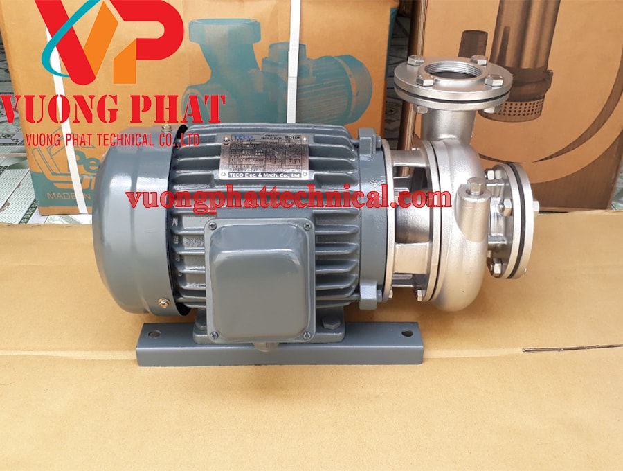 Bơm ly tâm trục ngang đầu inox Teco 30HP