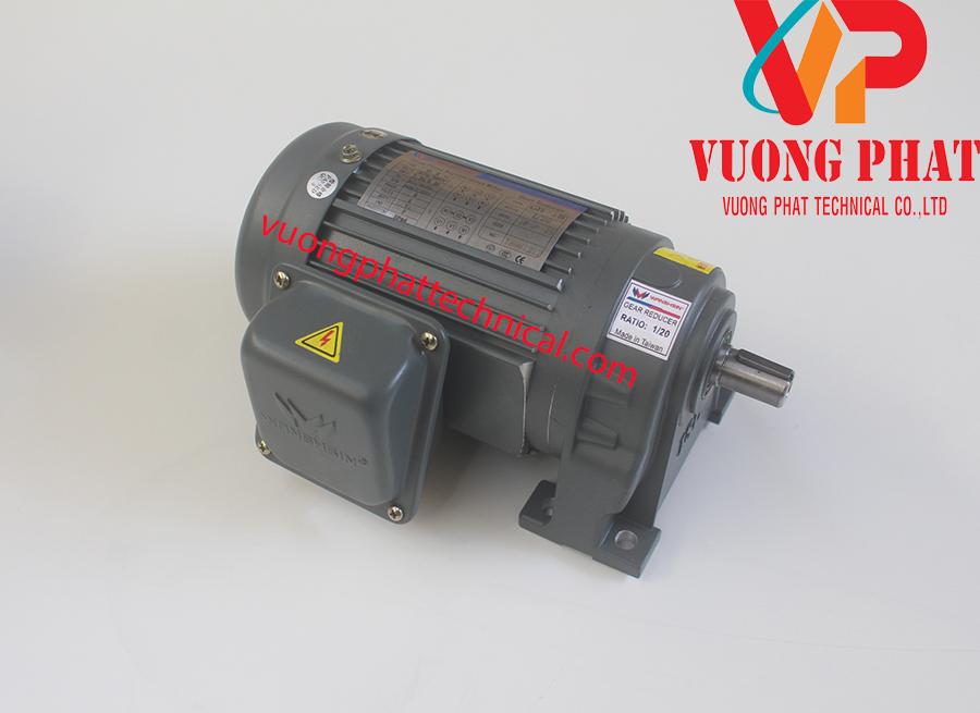 Motor giảm tốc chân đế wanshsin 1-4hp